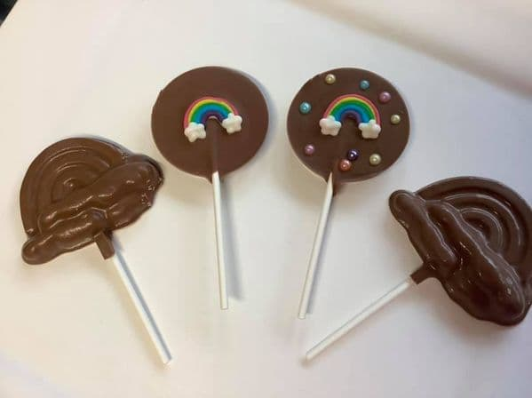 Chocolate Rainbow Lollipops
